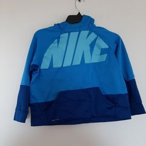 Kids Blue Nike logo sweater size large